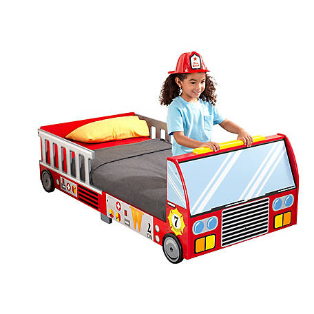 KidKraft Fire Truck Toddler Bed, 76021