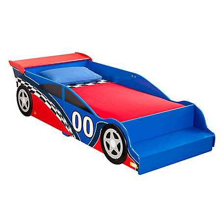 KidKraft Racecar Toddler Bed, 76040