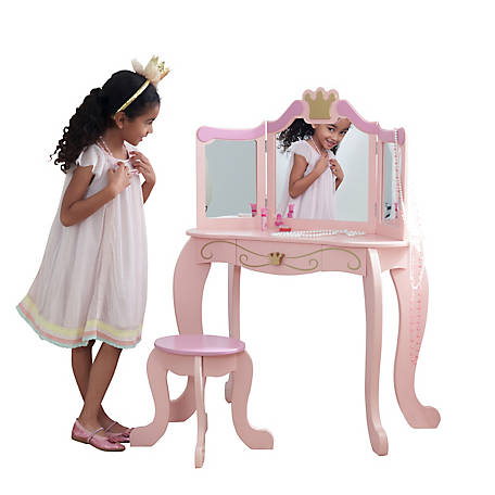 KidKraft Princess Vanity & Stool, 76123