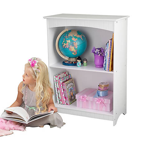 KidKraft Nantucket 2-Shelf Bookcase, White, 86625