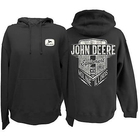 John Deere Men's JD Logo Equipment Hooded Fleece13021922