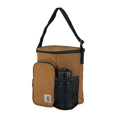 Carhartt Vertical Lunch Cooler with Bottle Brown, 8950210002
