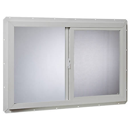 Tafco 36 x 24 Utility Slider, Single Glazed, VUS3624