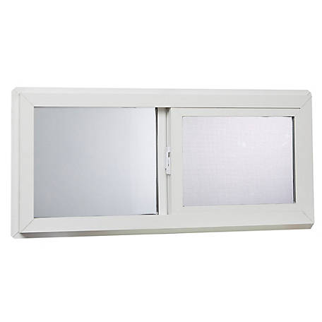 Tafco 32 x 14 Basement Slider Window, Insulated Glass, VBSI3214
