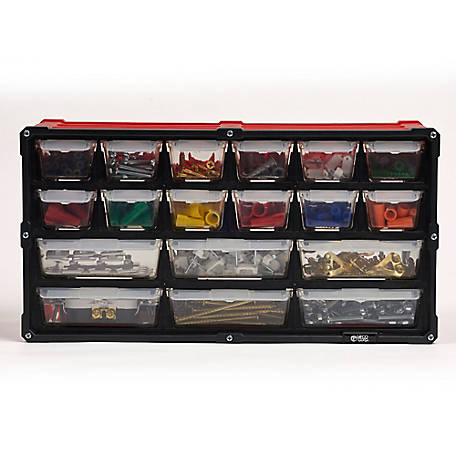 Tafco 18-Drawer Small Parts Oranizer Red, DSOR18SRD