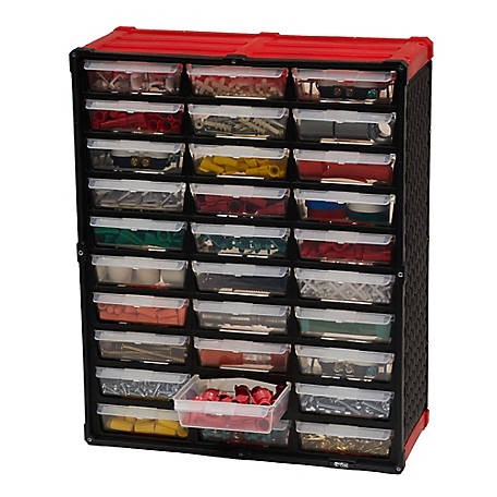 Tafco 30-Drawer Small Parts Oranizer, Red, DSOR30TRD