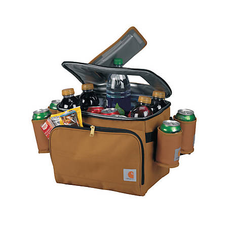 Carhartt Deluxe Cooler With Beverage Sleeves Brown, 89263300