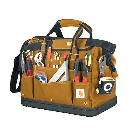 Carhartt Legacy 16 in. Tool Bag Molded Base, Brown