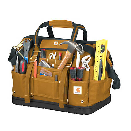 Carhartt Legacy 18 in. Tool Bag Molded Base, Brown