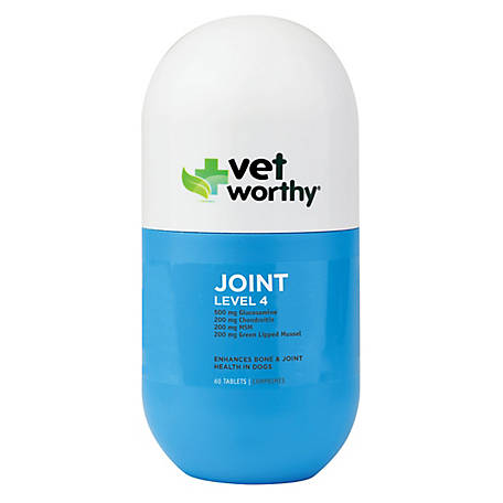 Vet Worthy Joint Level 4 60 ct. Chewable Tablets, 0087-3