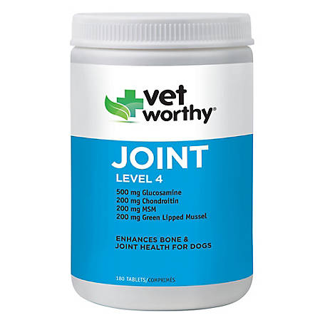 Vet Worthy Joint Level 4 180 ct. Chewable Tablets, 0089-7