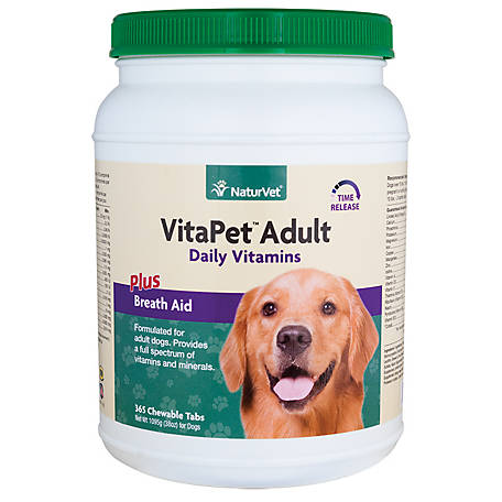 NaturVet VitaPet Adult Plus Breath Aid Tablets Time Release 365, 79903026