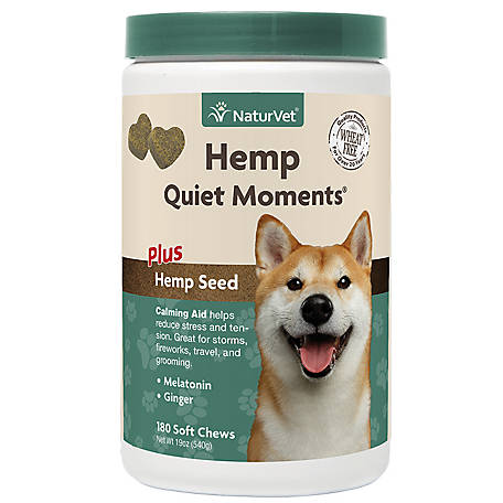 NaturVet Hemp Quiet Moments Soft Chew Jar 180 Ct, 79905932