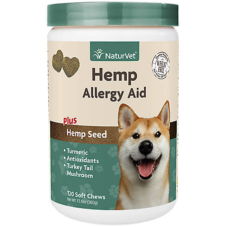 NaturVet Hemp Allergy Aid Soft Chew Jar 120Ct, 79905902
