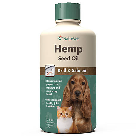 NaturVet Hemp Seed Oil Krill Salmon 32 oz., 79905953