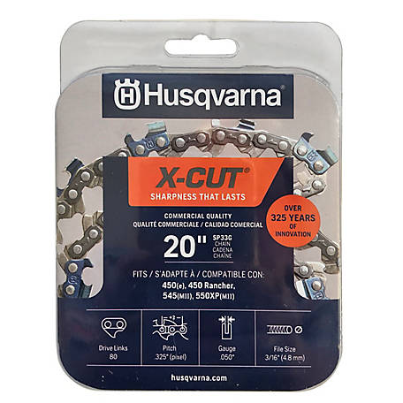 Husqvarna 20 in. X-Cut Chainsaw Chain - 3/8 in. Pitch, .050 in. Gauge 581643604