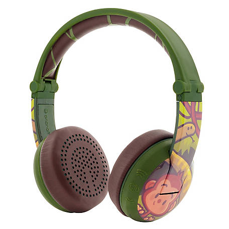BuddyPhones Wave Monkey Green, BT-BP-WV-MONKEY