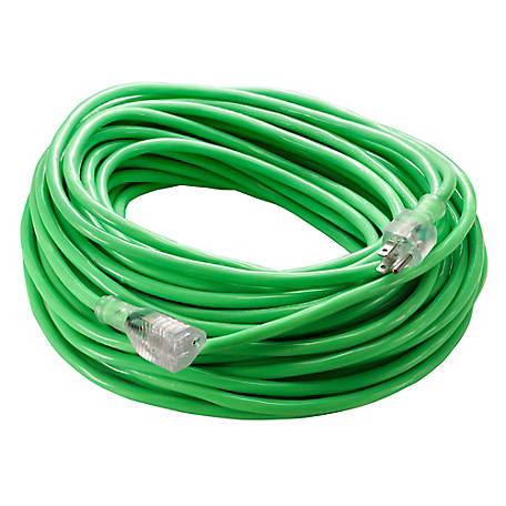 JobSmart 14G 100 ft. Extention Cord, Neon Green, WJ-23 14G100NEON GREEN