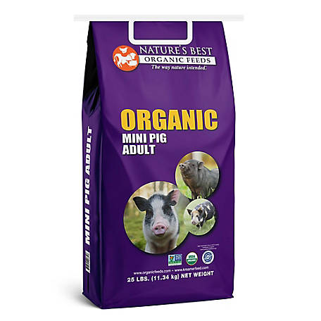 Nature's Best Organic Feeds Mini Pig Adult, 25 lb.