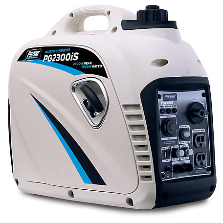 Pulsar 2,300W/2,000W Rated Portable Inverter Generator, Carb, PG2300IS