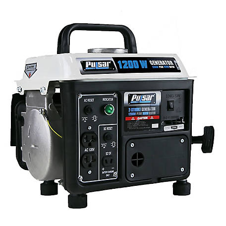 Pulsar 1200W/900W Rated 2-Stroke Portable Generator, PG1202S