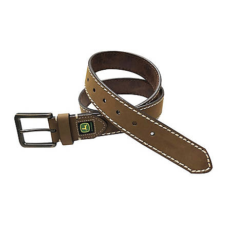 John Deere 38mm Crazy Horse Leather Belt 4570500