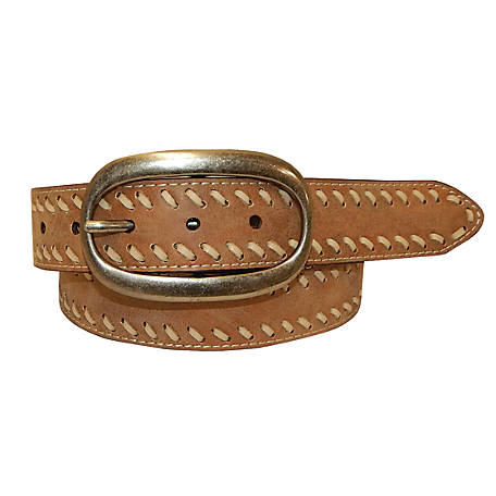 Cowgirls Rock 40MM Ladies' Leather Stitched Belt, 9621300-292