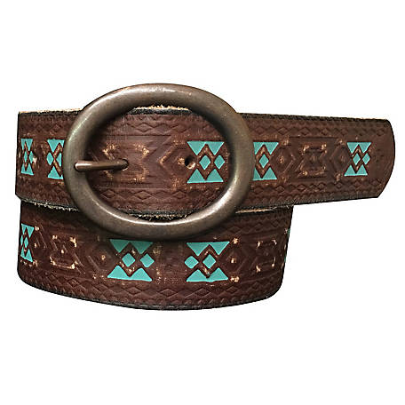 Roper 40mm Floral Genuine Leather Belt 8817790-200