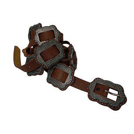 Roper Leather/Slider Conchos Belt 8807790-210