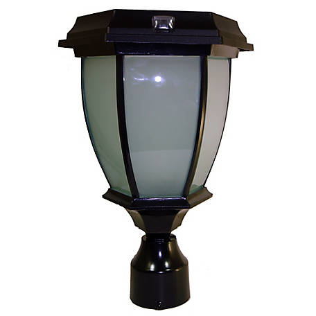 Solar Goes Green Convex Lamp with Fitter Pole Mount, SGG-COACH-99-V-F