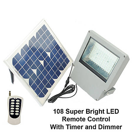 Solar Goes Green Super Bright Industrial Spot Light with Remote Control, SGG-F108-2T