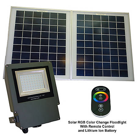 Solar Goes Green Powered Color Changing Flood Light, SGG-RGB-54-2R