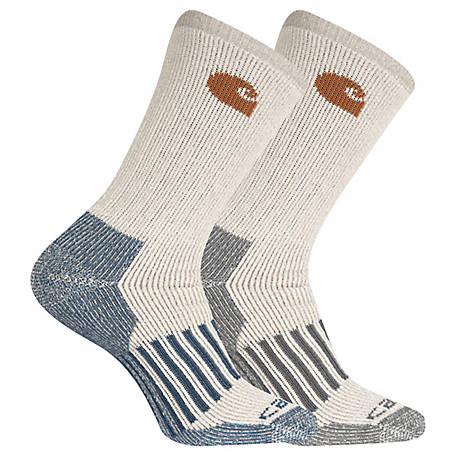 Carhartt Thermal Crew Sock 2Pk Large, CHMA6954B2C2001