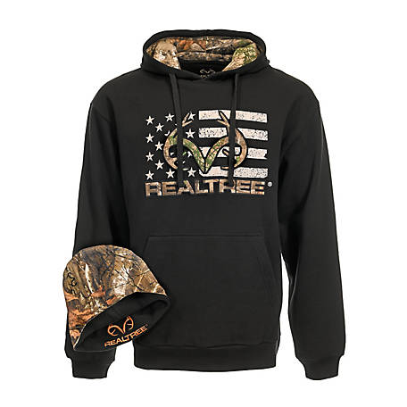 Realtree Men's Flag Hoody with Hat