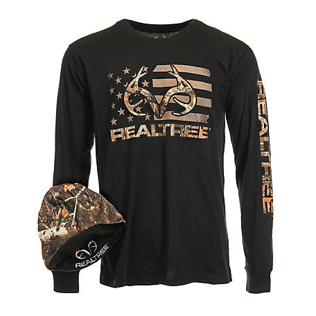 Realtree Men's Long Sleeve Tee with Beanie, NOCBB69