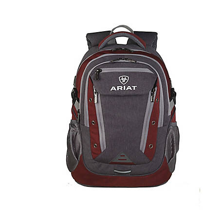 Ariat Backpack Burgndy Accent Grey