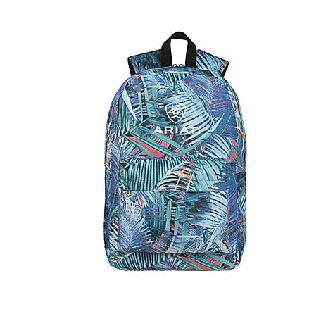 Ariat Backpack Floral Pattern Blue