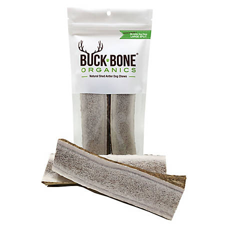 Buck Bone Organics Elk Large Split Double Pack Dog Chew, ELSDB, 5 x 10 in.