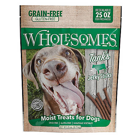 Wholesomes Tanks Beef Gluten Free Jerky Sticks