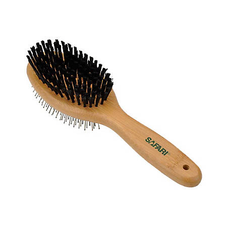 Safari Pin Bristle Combo Dog Brush, W6452 CMBLRG