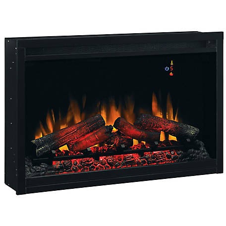 ClassicFlame 36 in. Traditional Built-In Electric Fireplace Insert, 120 Volt, 36EB110-GRT