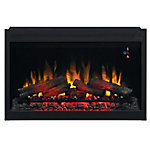 ClassicFlame 36 in. Traditional Built-In Electric Fireplace Insert, 240 Volt, 36EB220-GRT
