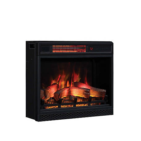 ClassicFlame 23 in. 3D Infrared Quartz Electric Fireplace Insert with Safer Plug & Safer Sensor, 23II042FGL