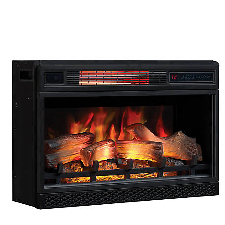 ClassicFlame 26 in. 3D Infrared Quartz Electric Fireplace Insert with Safer Plug & Safer Sensor, 26II042FGL