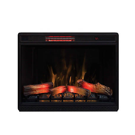 ClassicFlame 33 in. 3D Infrared Quartz Electric Fireplace Insert with Safer Plug and Safer Sensor, 33II042FGL