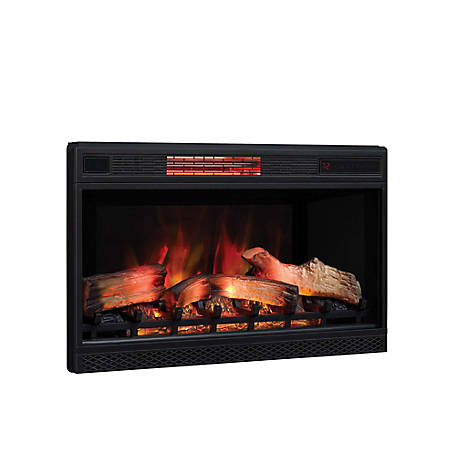 ClassicFlame 32 in. 3D Infrared Quartz Electric Fireplace Insert with Safer Plug and Safer Sensor, 32II042FGL