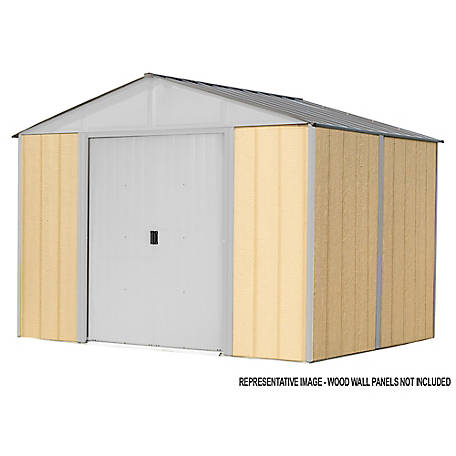 Arrow Iw Steel Hb Shed Kit 8 X 8 Ft Gal Cream, IWC88