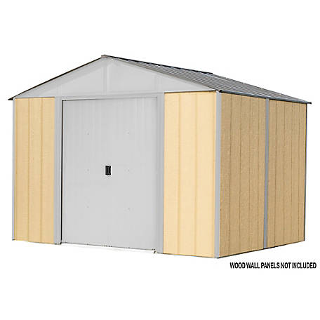Arrow Iw Steel Hb Shed Kit 10 X 8 Ft Gal Cream, IWC108