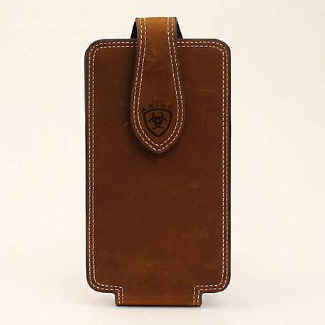 Ariat Cell Case Large Double Stitch Medium Brown