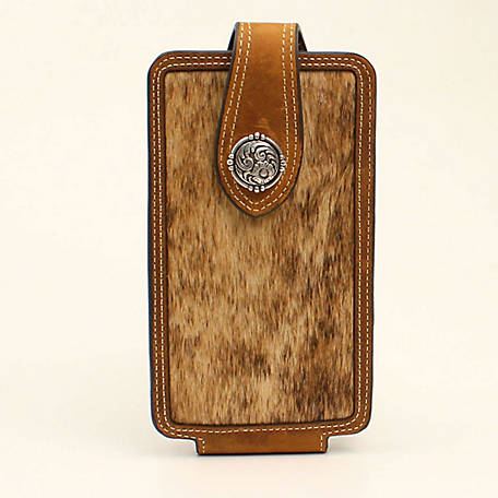Nocona Cell Case Large Cowhide Medium Brown